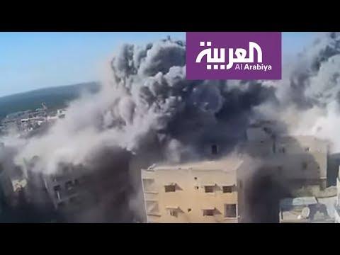 العرب اليوم - شاهد: خان شيخون تحت النار والجيش السوري ينتزع مزارعها الشمالية