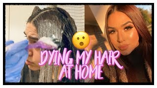 Day In My Life | Dying My Hair Chocolate Brown At Home