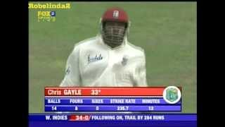 6 fours in an over by CHRIS GAYLE