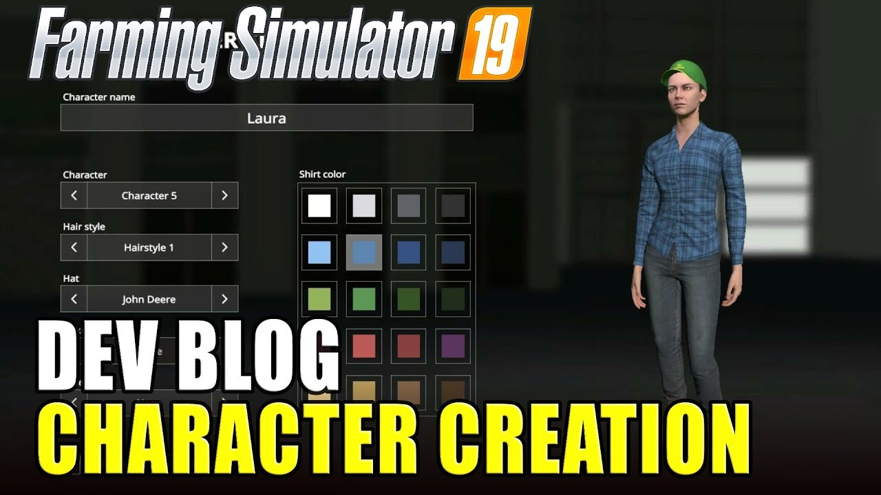 character customisation in fs 19