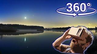 Панорамное Видео 360 VR 4K для очков виртуальной реальности.Движение луны time lapse samsung gear360
