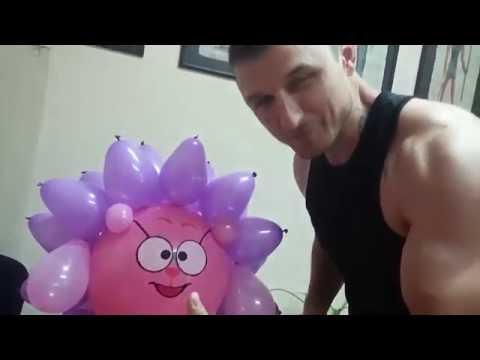 Смешарики, ёжик из воздушных шаров/Smeshariki hedgehog balloon