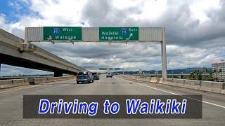 Hawaii Driving | From Daniel K. Inouye International Airport to Waikiki via H1 Freeway, Honolulu