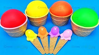 Play Doh Ice Cream Cups and Disney TMNT Ooshies and Kinder Joy Surprise Toys