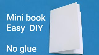 How To Make A 8 Page MINI BOOK With 1 Sheet Of Paper, No Glue, Very Easy