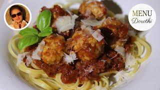 Klopsy czyli pulpety, w sosie pomidorowym. Pomysł na danie w 30 minut. MENU Dorotki.