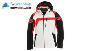 Spyder, Titan, ski jacket, men, white/black/red
