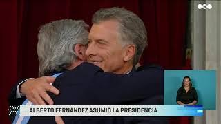 TRASPASO PRESIDENCIAL: MACRI entregó el MANDO a ALBERTO FERNÁNDEZ