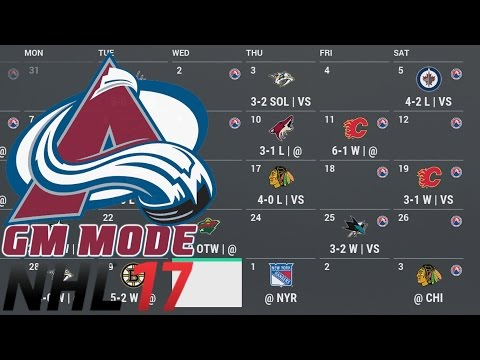 YEAR 7 - NHL 17 - GM Mode Commentary - Colorado ep. 27