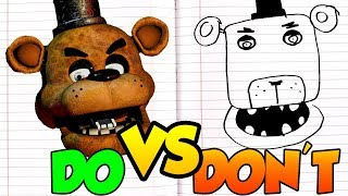 DOs & DON'Ts   Drawing Five Nights At Freddy's Freddy All Freddy's In 1 Minute CHALLENGE!