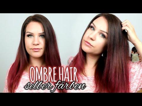 NEUE HAARFARBE   Ombre Braun Pink-Rote Haare