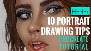10 Portrait Drawing tips on Procreate iPad by Haze Long
