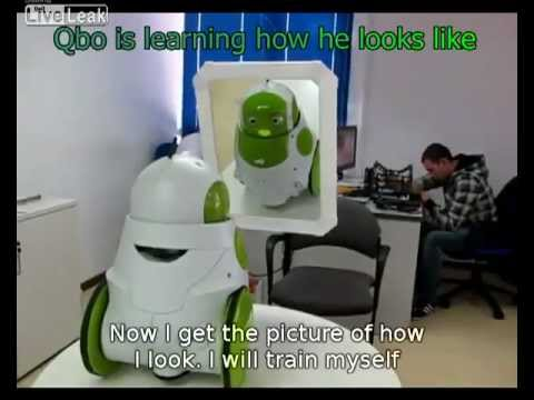 Robot sees itself for first time