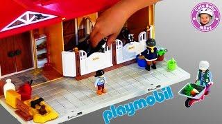 Playmobil 5348 Mein Pferdestall zum Mitnehmen unboxing und Aufbau - Spielzeuge testen