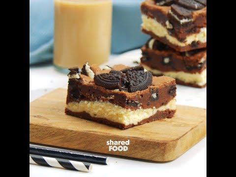 Espresso Oreo Cheesecake Brownies