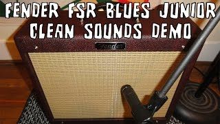 Fender Blues Junior Amp FSR Wine Red Clean Sounds Demo