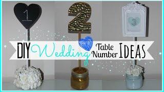 DIY Wedding Table Number Ideas - Affordable! - Wedding Series