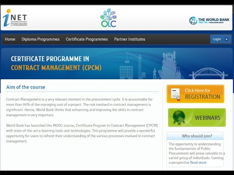 Free MOOC on Contract Management by World Bank - YouTube