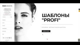 Profi:Креатив - шаблон сайта и блога от welldi.ru