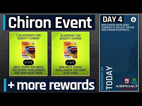 Asphalt 9 | Bugatti Chiron Mega Event | Day 1 - 10 BP + 1200
