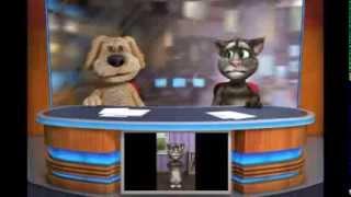 El gato Tom cantando la canción del patito