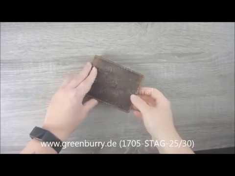 Greenburry Geldbörse Leder Vintage mit Hirschmotiv 1705-STAG