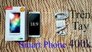 Mở hộp smartphone 400k - Masstel Juno Q7, Camera kép, Màn hình 18:9, Ram 1G