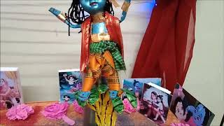 Krishna Janmashtami decoration at home Easy/Simple/Creative Idea 2020 with minimum items used - Download this Video in MP3, M4A, WEBM, MP4, 3GP
