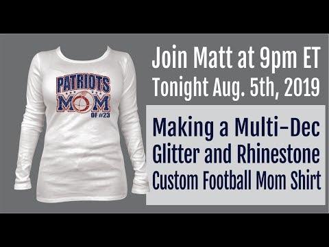 Making a Custom Glitter & Rhinestone Shirt LIVE Tonight! 9pm ET