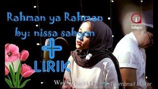 Gambar cover Nissa sabyan!!-Rohman ya Rohman*|| by: sabyan gambus