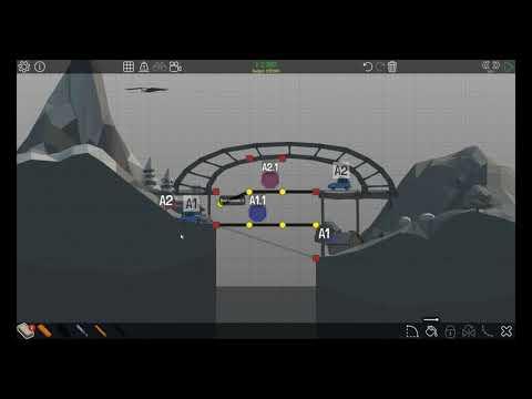 Poly Bridge 1-14 Easy Elevator (HIGH RANK SOLUTION)