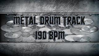 Metal Drum Track 190 BPM | Remix