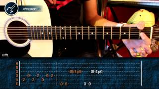 "Cómo tocar ""Love Me Two Times"" de The Doors en guitarra Acústica (HD) Tutorial - Christianvib"