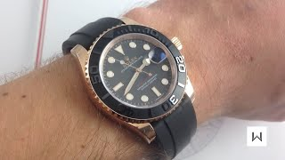Rolex Oyster Perpetual Yacht-Master 116655 Rose Gold Luxury Watch Review