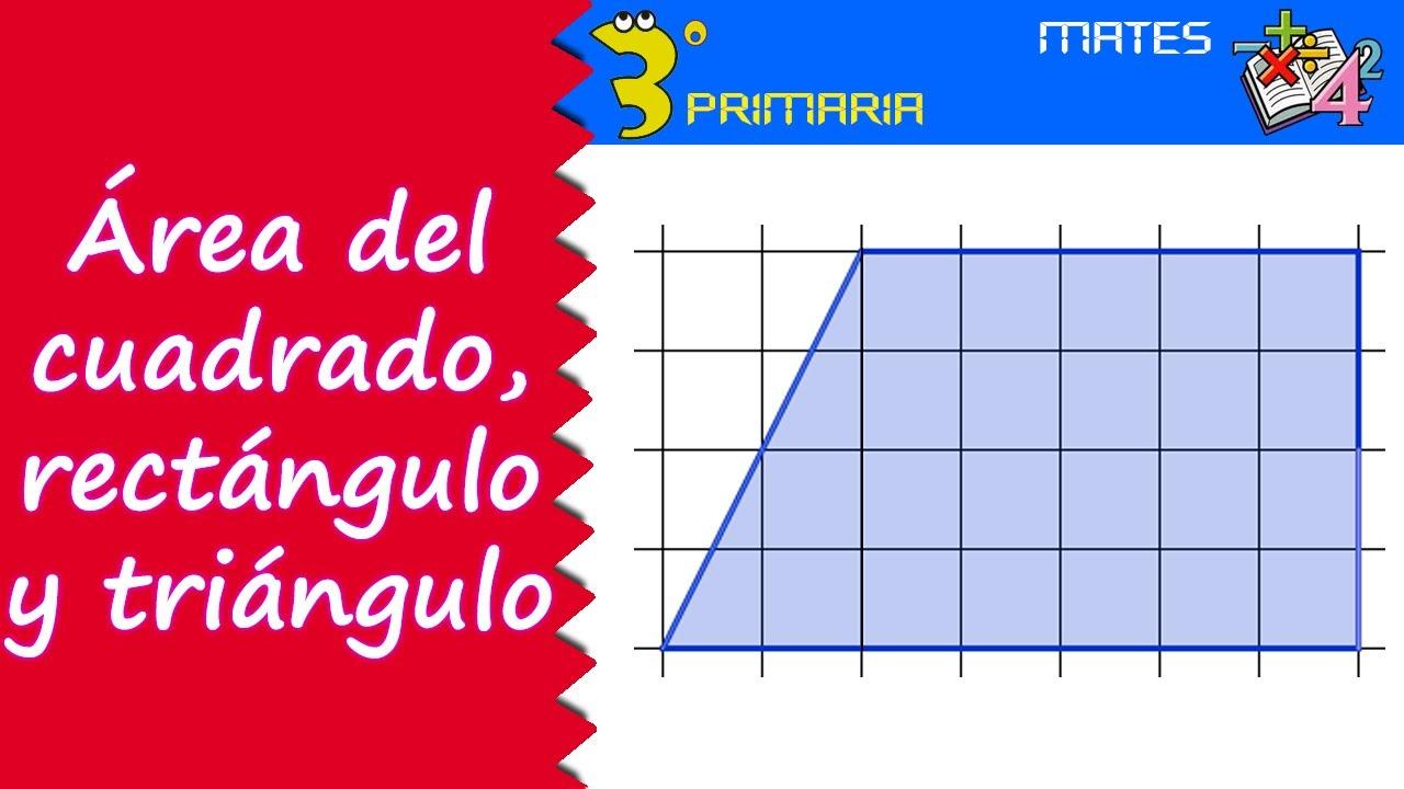 Matemáticas. 3º Primaria. Tema 8. Área del cuadrado, rectángulo y triángulo