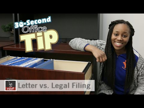 Letter vs. Legal Filing | National Business Furniture