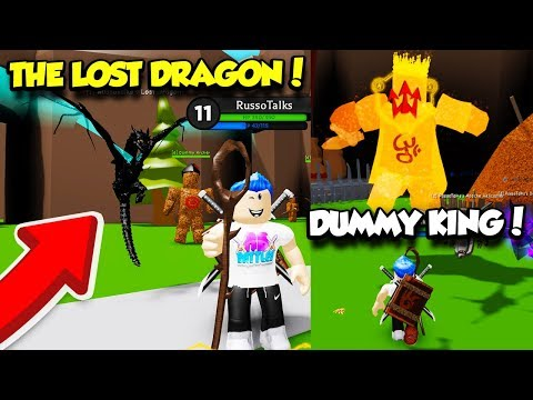 *NEW* I Got The GODLY DRAGON PET In WIZARD SIMULATOR And DEFEATED THE DUMMY KING BOSS! (Roblox)