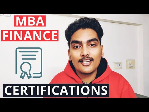 Certification Courses for MBA Finance | MBA Certifications to ...