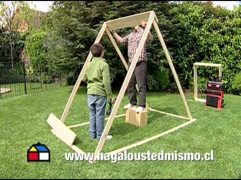 ¿Cómo hacer un arenero con techo?