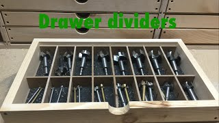 Shop Organization: Drawer Dividers!
