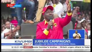 Jubilee campaigns in Nakuru: Uhuru, Ruto on campaign trail