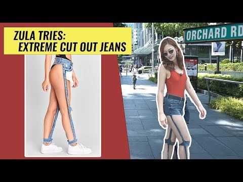ZULA Tries: Extreme Ripped Jeans Trend On Orchard Road | EP 5