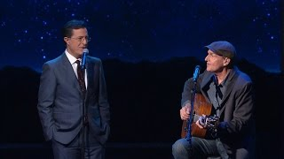"James Taylor and Stephen Duet On ""You Can Close Your Eyes"""