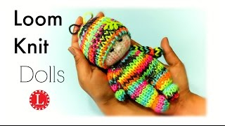 Loom Knitting Tiny Dolls Toys (Round Loom) | Telar Redondo| Tricotin |Strickring| نول | 圆针织