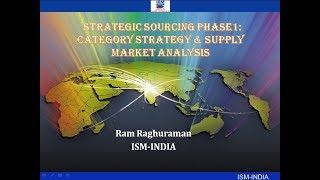 Webinar on Strategic Sourcing Phase 1: Category Strategy & Supply Market Analysis