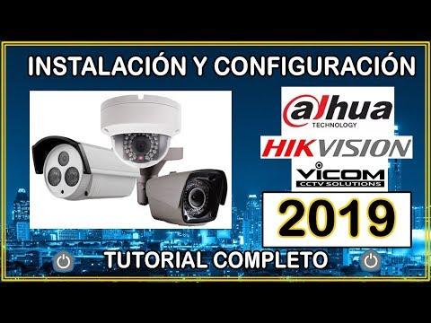 CAMARAS DE SEGURIDAD INSTALACIÓN Y CONFIGURACIÓN  2019 CCTV - DAHUA   HIKVISION   VICOM