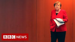 """Chancellor Angela Merkel has said Germany's goal of slowing the spread of coronavirus has been achieved, so all shops can be reopened as lockdown restrictions are eased.  Bundesliga football has been given the green light to resume and schools will gradually reopen in the summer term.  Germany's 16 federal states, under an agreement with the government, will take control of timing the reopening.  They will operate an """"emergency brake"""" if there is a new surge in infections.  General contact rules involving will continue for another month. A limited resumption has already begun, but this easing of restrictions is far broader.  Two households will be able to meet and eat together, and elderly people in nursing homes and facilities for the disabled will be able to have visits from one specific person.  #BBCOS #BBCOutsideSource   Please subscribe HERE http://bit.ly/1rbfUog"""