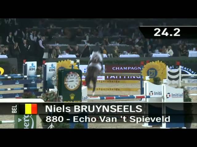 Echo van't Spieveld with rider Niels Bruynseels.