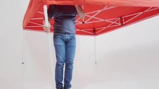 3x3 méteres Robusta sátor állítása-bontása - 1 ember, ponyvával