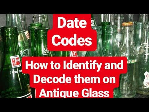 Antique Glass Bottles - BASIC DATE CODES EXPLAINED